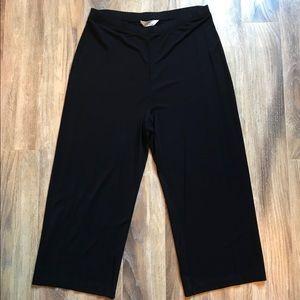 Brooks Brothers Black Cropped Pants L